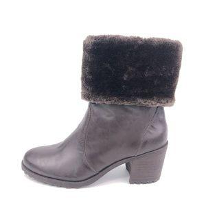 Aerosoles Incognito Faux Fur Cuff Winter Boots 7M